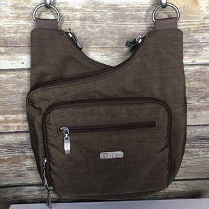 Baggallini crossbody travel purse brown bag wallet